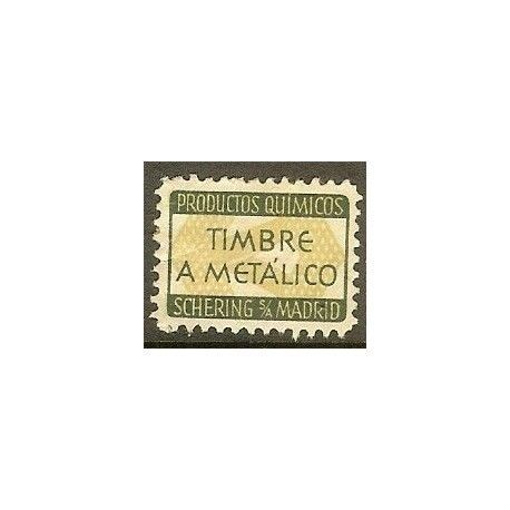 Timbre a Metálico. Productos Químicos Shering S/A Madrid