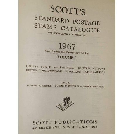 Catalogue Scott 1967 Vol. I Americas and British Commowealth