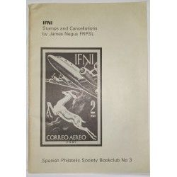 IFNI Stamps and Cancelations, James Negus FRPSL Spanish Philatelic Society Bookclub Nº3. 1975